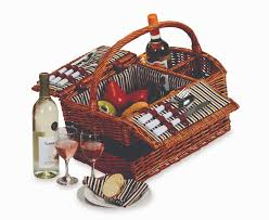 plus largo 2 person wicker picnic basket