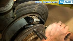 how to install replace emergency brake shoes 2002 05 ford explorer