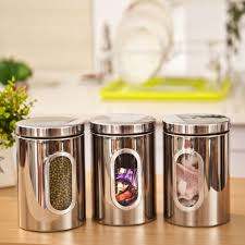Stainless Steel Kitchen Canister Sets Kitchen Storage Containers Set In Steel Your Kitchen Design