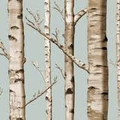 birch tree wrapping paper birch tree fabric wallpaper gift wrap spoonflower