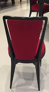 Black Lacquer Dining Room Chairs French Art Deco Black Lacquer Dining Chairs Set Of Six U2013 1 Of A