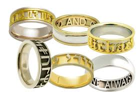 personalized wedding band personalized wedding rings engraved the advantages of creating