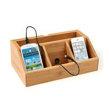 Electronic Charging Station Desk Organizer Mind Reader 3 Component Bamboo Charging Station And Desk Organizer