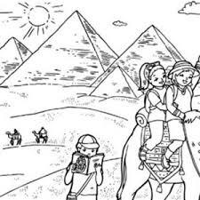 tourist destination egypt pyramid coloring famous
