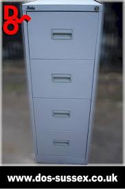Silverline Filing Cabinet Silverline Filing Cabinet 4 Drawer Finished In Grey For Sale