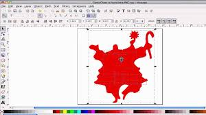 create a simple silhouette in inkscape youtube