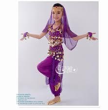 Indian Halloween Costumes Girls Discount Handmade Children Belly Dance Costumes Kids Belly