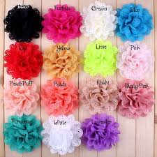 flowers for headbands 20pcs4 baby hair flowers fabric flowers without for