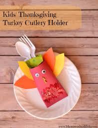 kids u0027 thanksgiving turkey cutlery holder