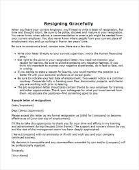 resignation letters in pdf