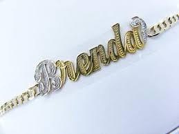 14k gold name plates personalized 14k gold gp cuban name plate bracelet un ebay