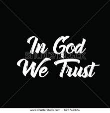 Designs In God We Trust God We Trust Text Design Vector Stock Vector 623749124