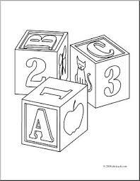 clip art child u0027s blocks coloring page i abcteach com abcteach