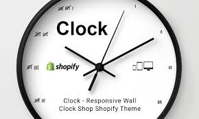 theme clock clock responsive wall clock shop shopify theme themetidy