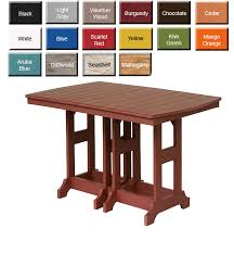 Amish Dining Tables Outdoor Poly Furniture Amish Gcrecctable Counter Height Table