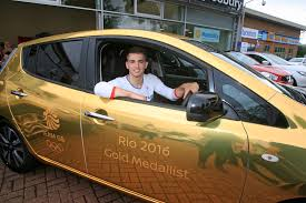 nissan gold in pictures olympics star max whitlock visits bucks to pick up
