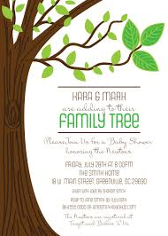 baby shower tree family tree baby shower invitations three leaves rustic boy or
