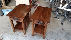 mission style end tables mission style end tables out of figured walnut