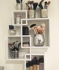 bathroom makeup storage ideas clear acrylic makeup organizer arranges makeup brushes and
