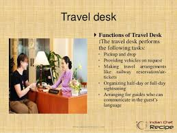travel desk images Layout and sections of front office jpg