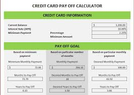 Excel Debt Payoff Template Credit Card Excel Template Credit Card Spreadsheet Template