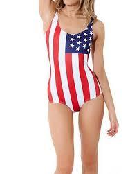 Flag One Piece Swimsuit On Sale Oyanus Women U0027s Usa American Flag One Piece Crewneck