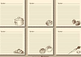 free recipe cards vector graphic 3 free vector download 370495