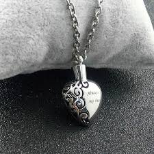 ashes locket online shop stainless steel heart necklace memorial cremation