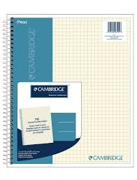 amazon com cambridge quad wirebound notebook 70ct 06194