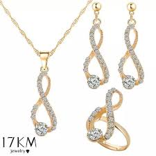 love crystal necklace images Elegant design wedding infinity love crystal rhinestone necklace jpg