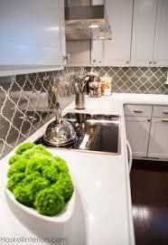 Grey Glass Backsplash by Smoke Arabesque Glass Tile Arabesque Kitchens And Glass