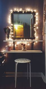 Flower String Lights Ikea by My Vanity Setup Ikea Vanity Decorated With Christmas Lights And