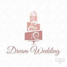 wedding cake logo exclusive customizable logo for sale wedding cake bakery