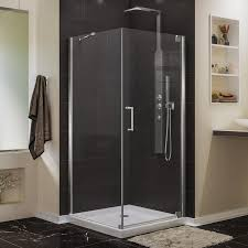 34 Shower Door Shop Dreamline Elegance 34 In To 34 In W Frameless Chrome Pivot