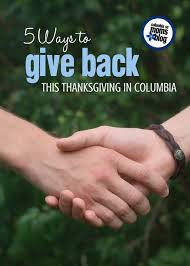 ways to give back this thanksgiving in columbia columbia sc