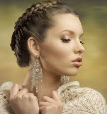 updo hairstyles for round faces braided twist updo for oval and