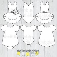 dress and tutu templates baby shower onesie baby dress