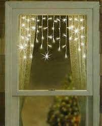 Window Decorations For Christmas by Set Of 50 Twinkling U0026 Shimmering Clear Window Curtain Icicle
