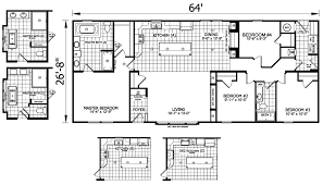 3 Bedroom 2 Bath Mobile Home Floor Plans The Johnston Mobile Home Floor Plan Is A 27 X 64 1721 Sqft Double
