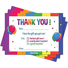 amazon com 25 chalkboard kids thank you cards fill in thank you