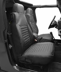jeep wrangler back bestop high back seat covers for 97 06 jeep wrangler tj pair