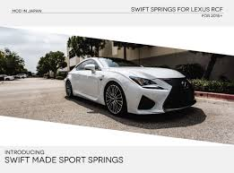lexus rcf for sale in florida new swift sport lowering springs for rc f released clublexus