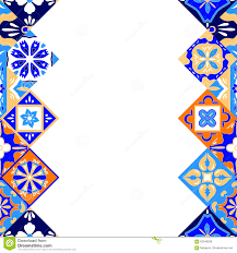 orange and white wallpapers mexican stylized talavera tiles seamless border in blue orange and