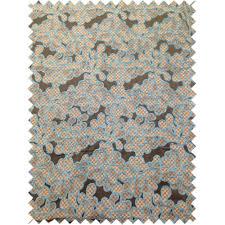 designer floral flower blue teal grey black pattern fabrics