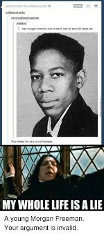 35351 probend i was morgan freeman ever a kid or was he born 60