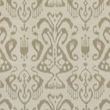 ivory upholstery fabric taupe and ivory ikat upholstery fabric woven by popdecorfabrics