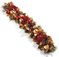decorated garlands happy holidays