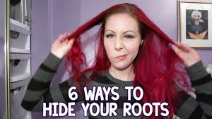 hairstyle to hide grey roots 6 ways to hide your roots youtube