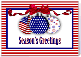 patriotic ornaments greeting card by starstock greetings