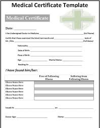 download medical certificate template for free tidyform